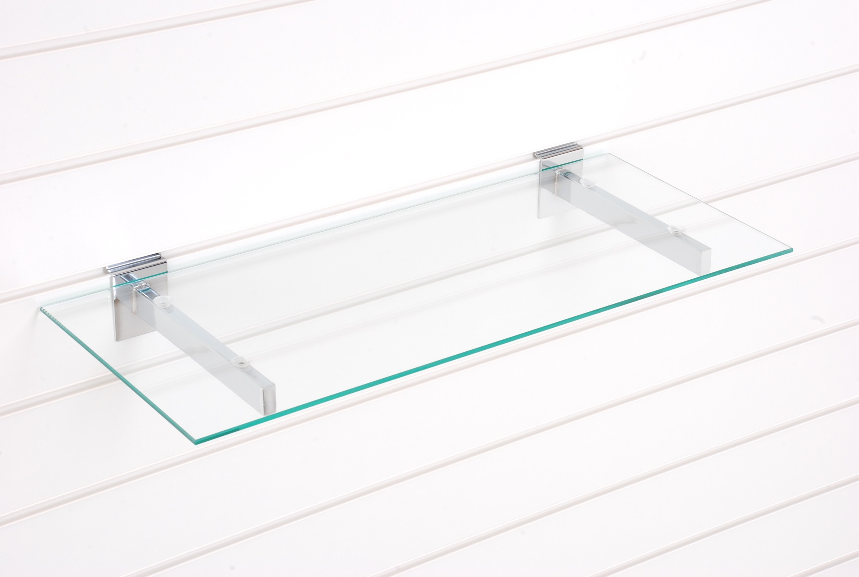Star Shop 1000mm X 300mm Tempered Glass Shelves With